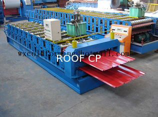 Blue 5 M / Min Roof Panel Glazed Tile Roll Forming Machine With 18 Forming Station