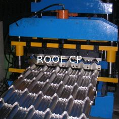 Forming Speed 8-12 M/Min Roof Panel Roll Forming Machine , Metal Glazed Tile Cold Forming Machine