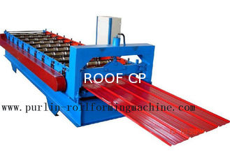 Metal Trapezoidal Cold Roll Forming Machine / Roofing Panel Roll Forming Equipment